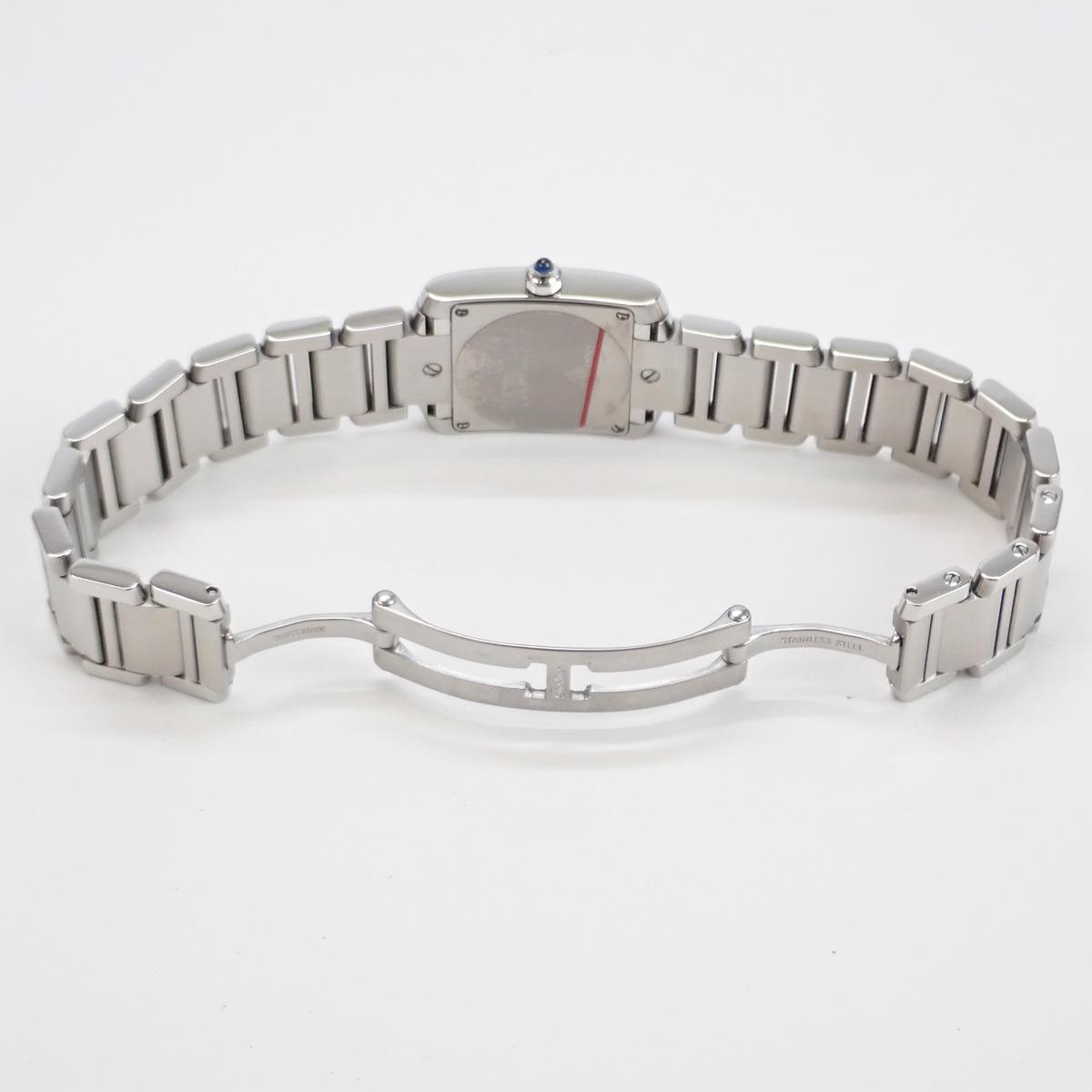 【辛口評価】【Aランク】Cartier カルティエ タンクフランセーズSM レディース 腕時計 W51008Q3 ホワイト文字盤