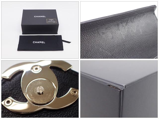 【辛口評価】【Aランク】CHANEL シャネル Vステッチ チェーンショルダーバッグ AS0025 カーフスキン ブラック×ゴールド金具