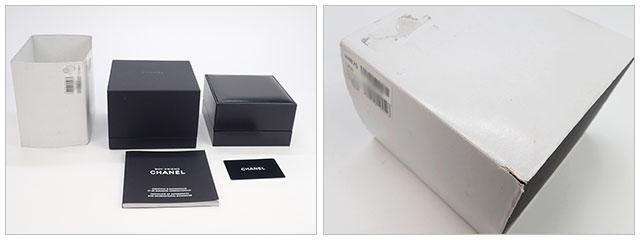 【辛口評価】【Aランク】CHANEL シャネル ボーイフレンド ツイード スモールモデル H4876 ブラック文字盤