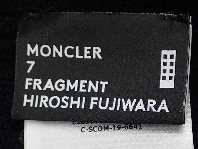 【辛口評価】【Aランク】Moncler モンクレール fragment フラグメント 藤原ヒロシ ジップ パーカー サイズM ブラック E209U8200150 809F4