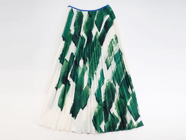 【辛口評価】【ABランク】CELINE セリーヌ プリーツ  スカート サイズ36 グリーン