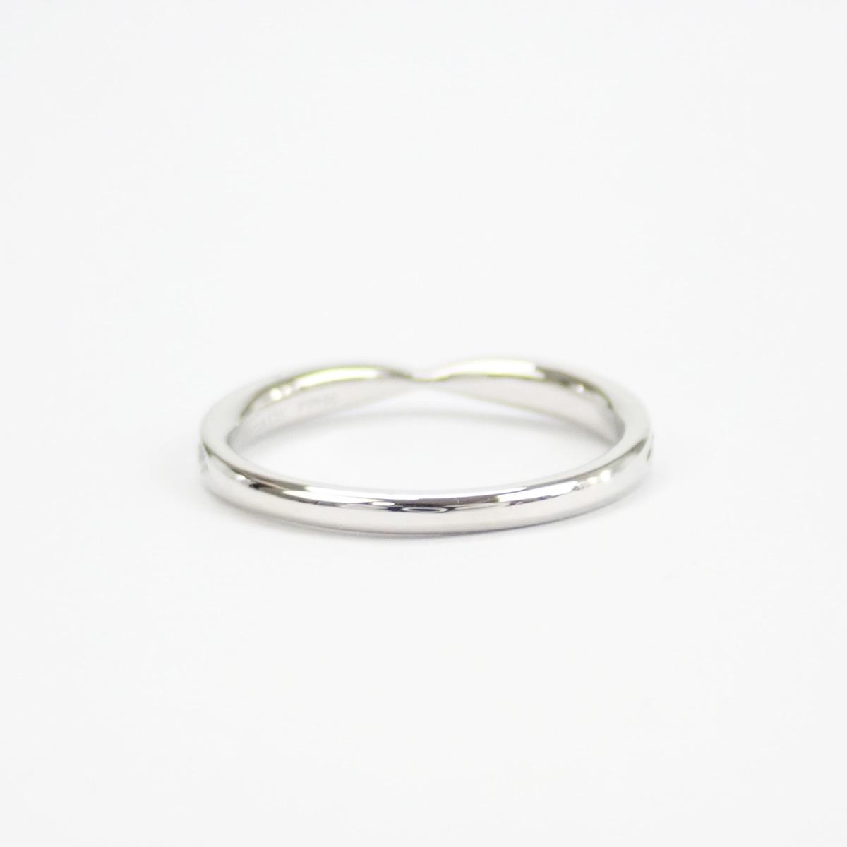 【辛口評価】【Aランク】Tiffany&Co. ティファニー Pt950 ハーモニー ビーズ セット ダイヤモンド リング D0.25ct ゲージ棒約8号