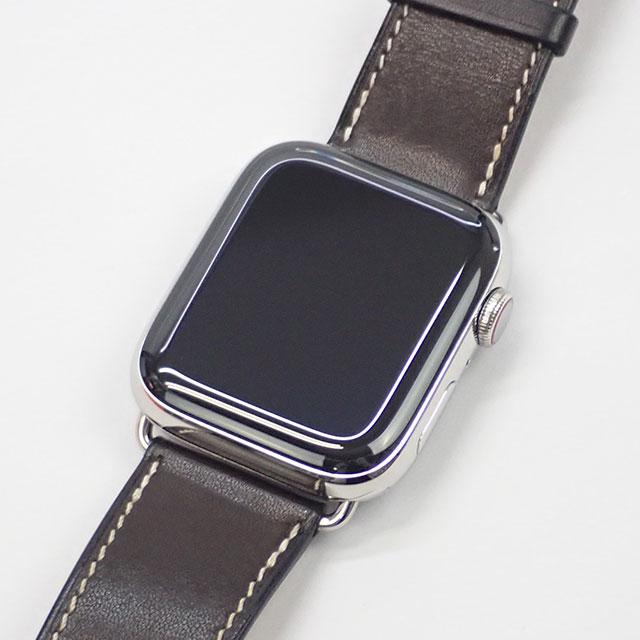 【辛口評価】【ABランク】Apple Watch HERMES アップルウォッチ エルメス Series5 44mm シンプルトゥール MWRA2J/A H0250001 ダークブラウンレザー
