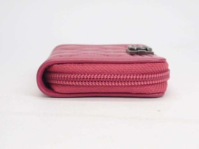 【辛口評価】【Aランク】CHANEL シャネル ラムスキン ボーイシャネル ジップ カードケース A81467 ピンク