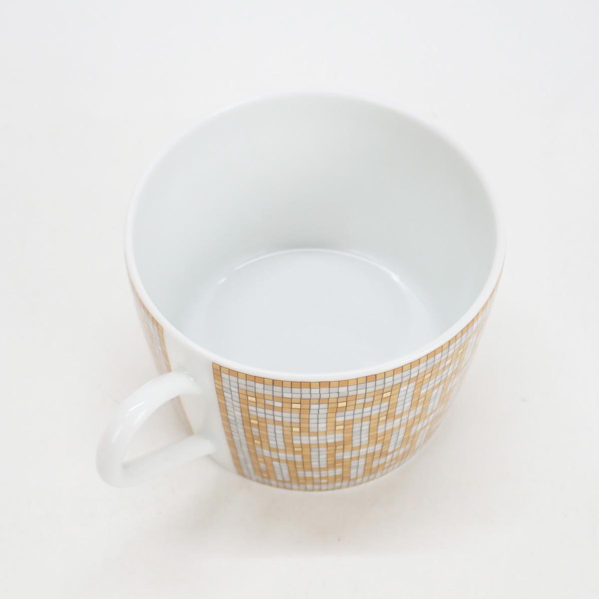 【辛口評価】【SAランク】HERMES エルメス モザイク ヴァンキャトル ティーカップ&ソーサー ペア 026016P2