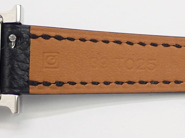 【辛口評価】【Aランク】HERMES エルメス Hウォッチ ミニ HH1.110 ホワイト文字盤 ブラックレザー