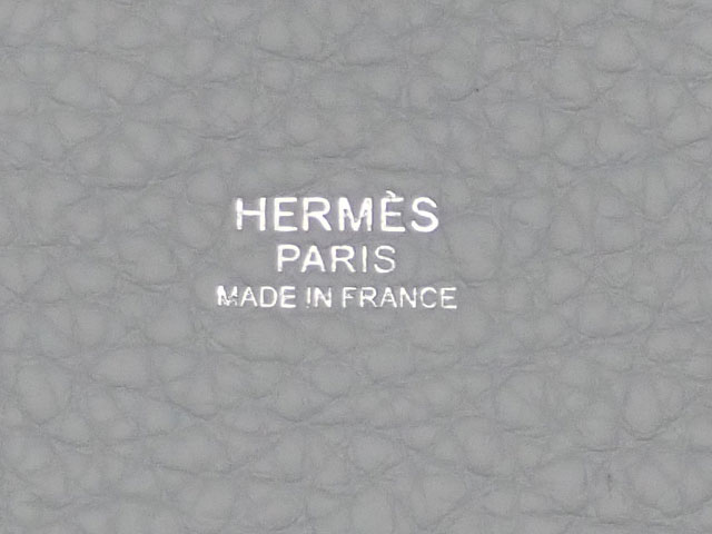 【辛口評価】【Sランク】HERMES エルメス ピコタンロックMM ハンドバッグ トリヨンクレマンス ブルーペール Y刻印 シルバー金具 国内正規品