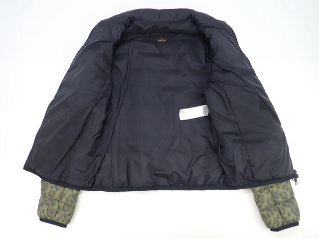 【辛口評価】【Aランク】LOUIS VUITTON ルイヴィトン レオパード ダウン ジャケット サイズ40(日本サイズL相当) カーキ