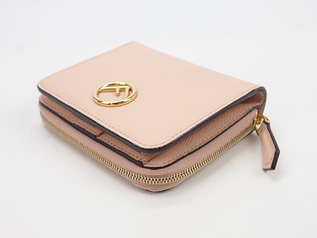 【辛口評価】【Sランク】FENDI フェンディ ジップアラウンド財布 ミディアム 二つ折り財布 8M0407A18BF14N1 ピンク