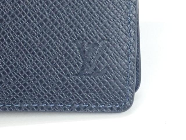 【辛口評価】【Nランク】LOUIS VUITTON ルイヴィトン タイガ ポルトフォイユ ミュルティプル 二つ折り財布 M30530 ブルーマリーヌ