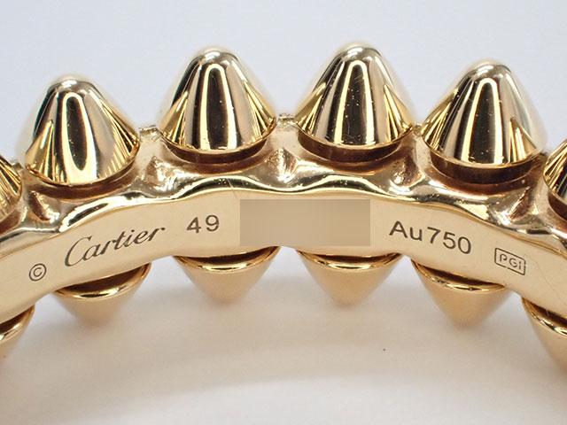 【辛口評価】【Sランク】Cartier カルティエ K18PG クラッシュ ドゥ カルティエ リング SM #49 B4229800 ゲージ棒約8.5号 国内正規品