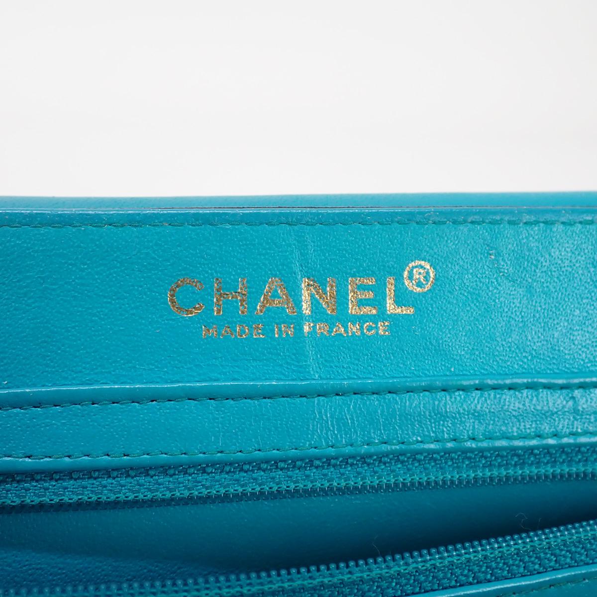 【辛口評価】【Bランク】CHANEL シャネル ラムスキン チョコバー 2.55 ショルダーバッグ ブラック ゴールド金具