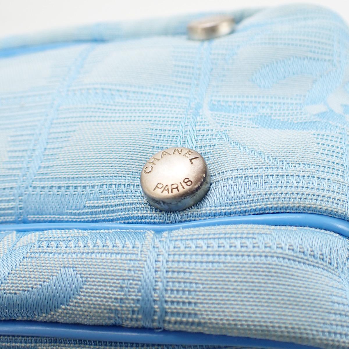 【辛口評価】【ABランク】CHANEL シャネル ニュートラベルライン 2WAYバッグ A15970 ナイロン ライトブルー