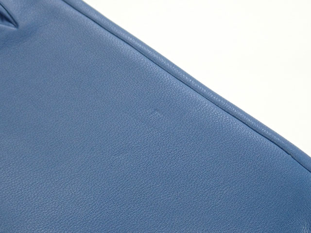 【辛口評価】【SAランク】HERMES エルメス ミニ・ドッグ・クルー・ロン 手袋 グローブ サイズ 17cm ラムスキン ブラック ゴールド金具