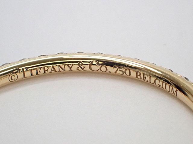 【辛口評価】【Aランク】Tiffany&Co. ティファニー K18YG メトロ フルエタニティ リング ダイヤモンド ゲージ棒約15号