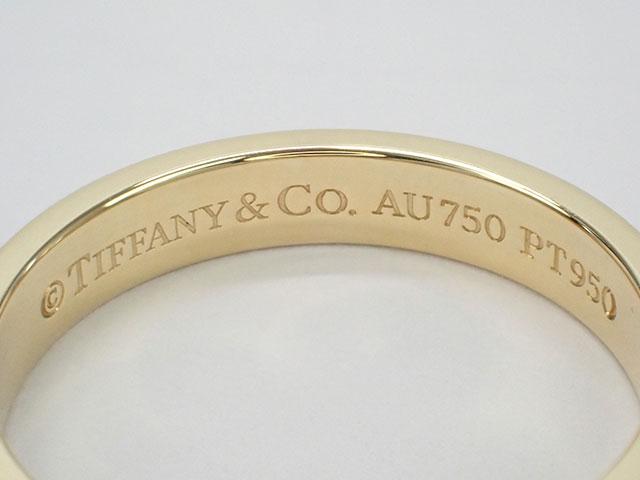 【辛口評価】【Aランク】Tiffany&Co. ティファニー K18YG/Pt950 クラシック ミルグレイン バンドリング ゲージ棒約13号