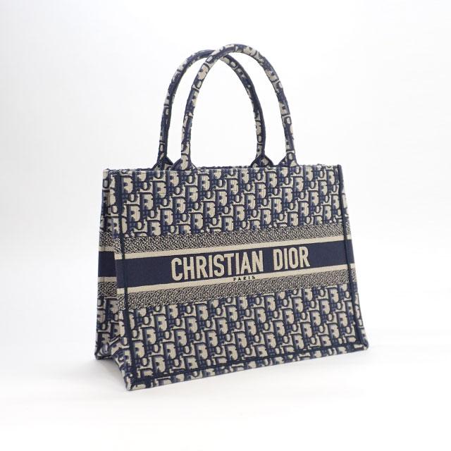 【辛口評価】【Sランク】Christian Dior クリスチャン ディオール ブックトート スモールバッグ トートバッグ M1296ZRIW_M928 ブルー