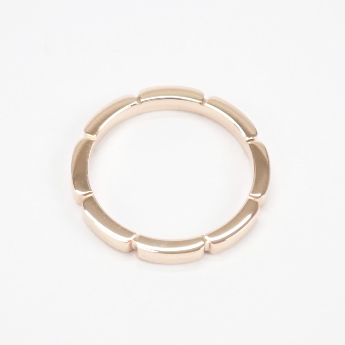 【辛口評価】【Aランク】Cartier カルティエ K18PG マイヨン パンテール ウェディング リング B4079800 #58 ゲージ棒約17.5号
