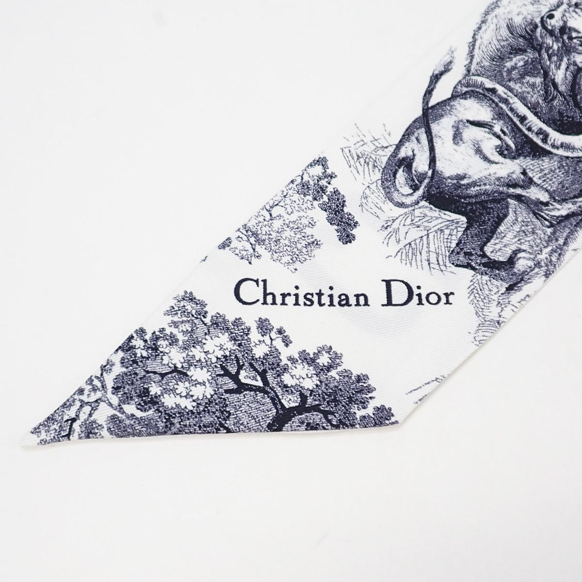 【辛口評価】【ABランク】Christian Dior クリスチャン ミッツァ スカーフ トワル ドゥ ジュイ シルクツイル スカーフ 94TOJ106I600_C512 シルク100% ブルー