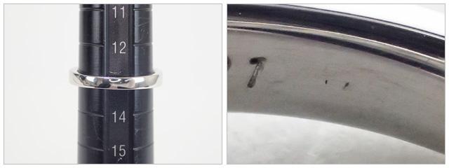 【辛口評価】【Aランク】Pt900 デザインリング ダイヤ0.531ct/1.36ct ゲージ棒13号