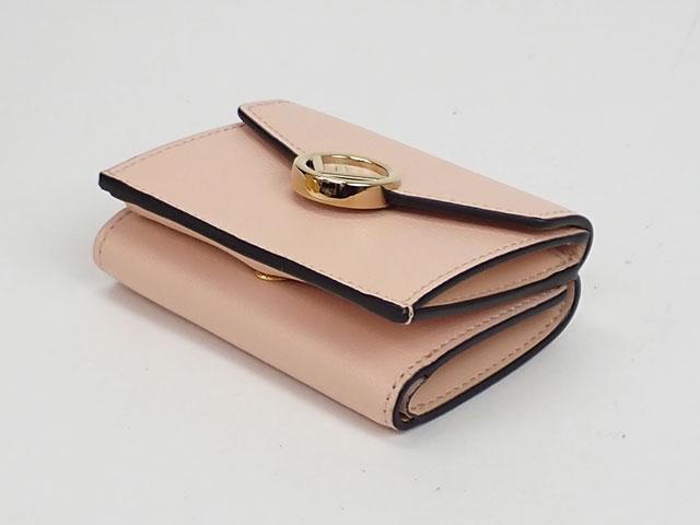 【辛口評価】【Sランク】FENDI フェンディ マイクロトリフォールドウォレット 三つ折り財布 8M0395 A18B F14N1 ピンク