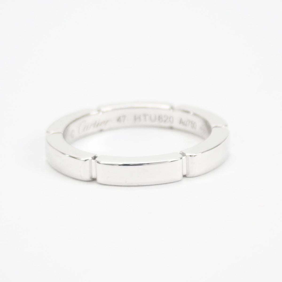 【辛口評価】【Aランク】Cartier カルティエ K18WG マイヨンパンテール ウェディング リング ダイヤ0.15ct B4221047 #47 ゲージ棒約7号