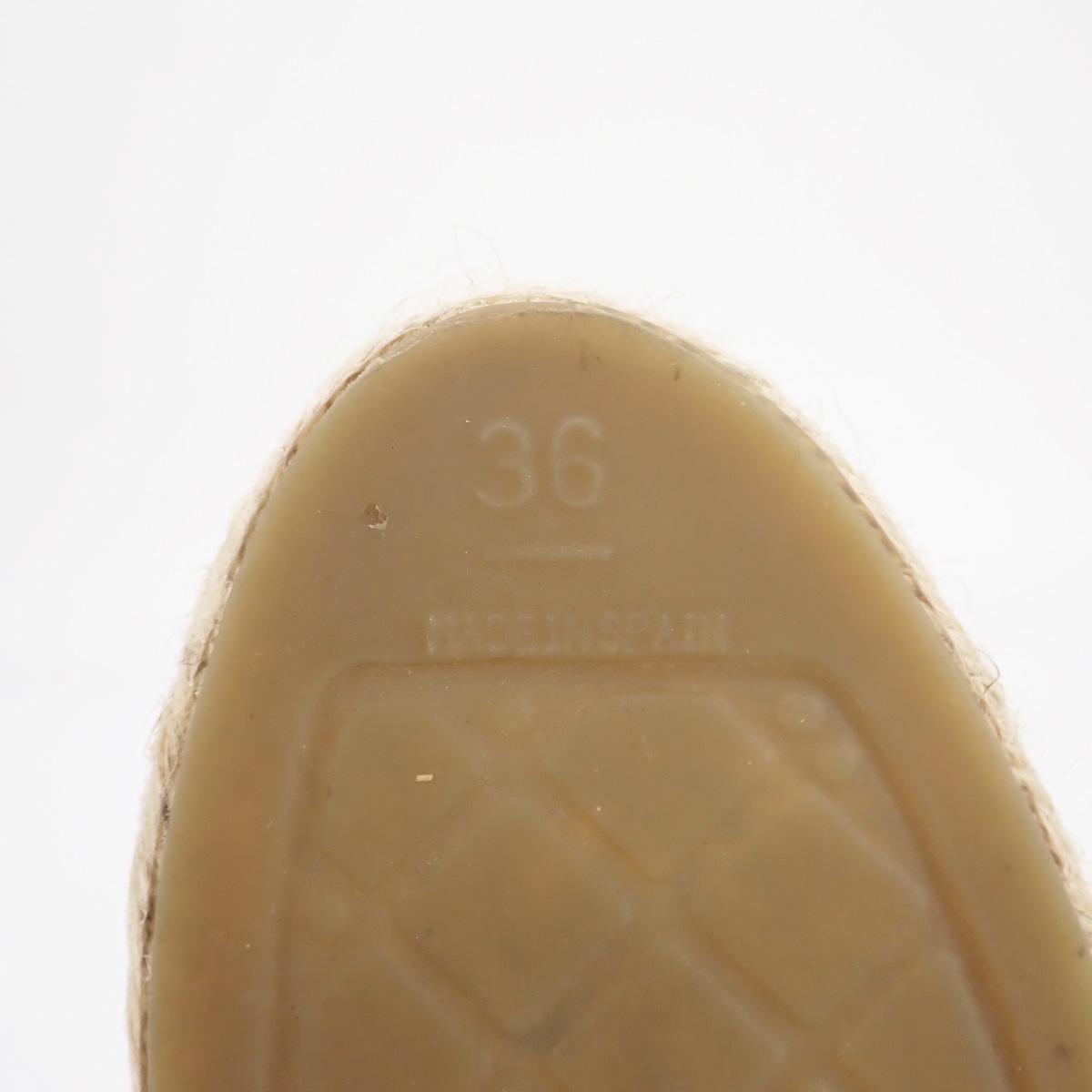 【辛口評価】【Aランク】CHANEL シャネル ラムスキン エスパドリーユ シューズ スリッポン G29762 サイズ36 日本サイズ約23.0cm ホワイト ブラック