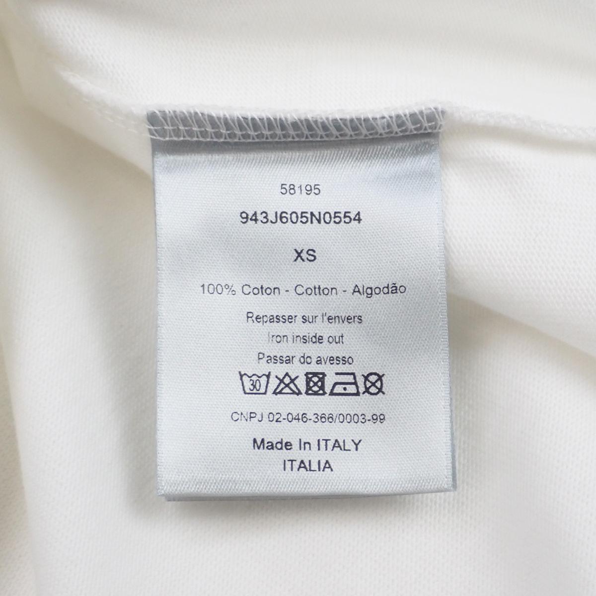【辛口評価】【ABランク】Christian Dior クリスチャン ディオール サドル プリント Tシャツ 943J605N0554 サイズXS コットン ホワイト