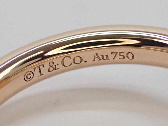 【辛口評価】【Aランク】Tiffany&Co. ティファニー K18PG T ワン ナロー リング ゲージ棒約7号弱