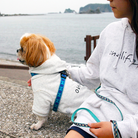 ペアパーカー〈子供+小〜中型犬〉