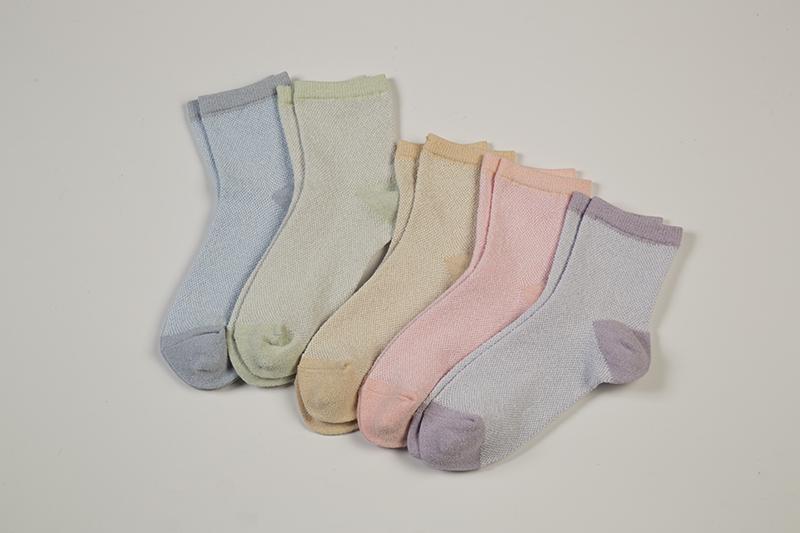 国産通気性が良い、タオルのような靴下5色組