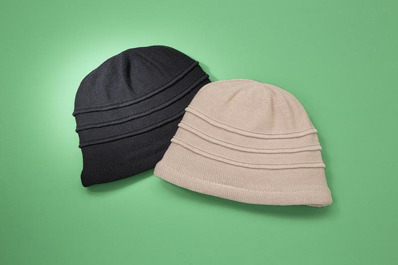 国産やわらか綿ニット帽子