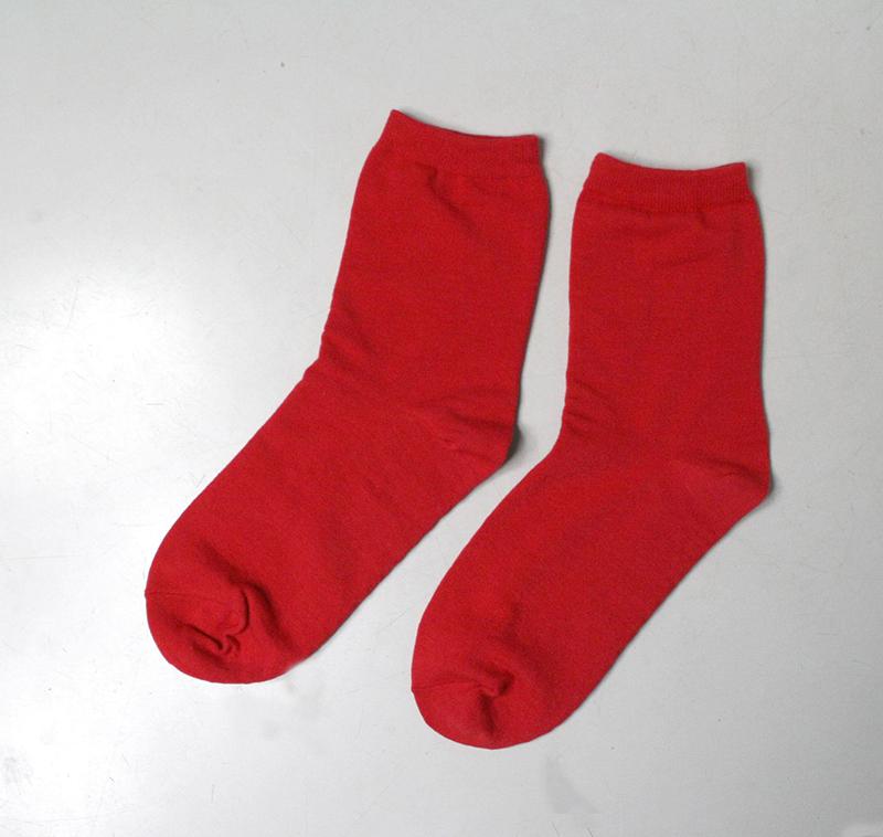 赤い、ゲルマ漢方ソックス 2足組