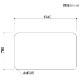 【PSマット】オンド135cm幅ダイニングテーブル用マット