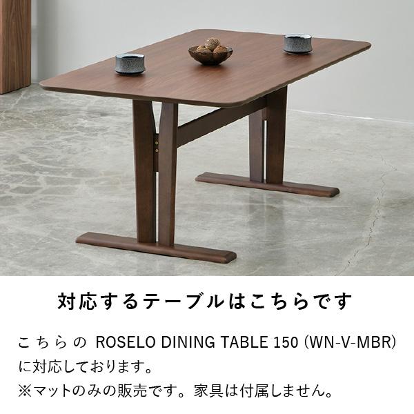 【PSマット】ロセロ150cm幅ダイニングテーブル用マット
