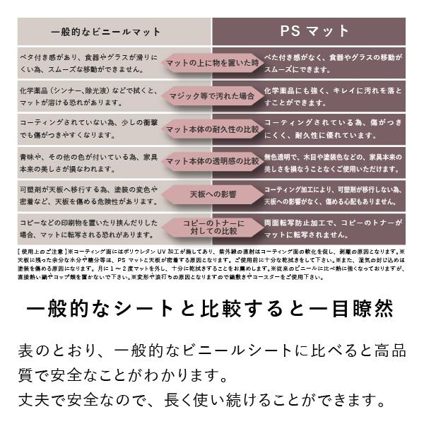 【PSマット】リフレ105cm幅デスク用マット