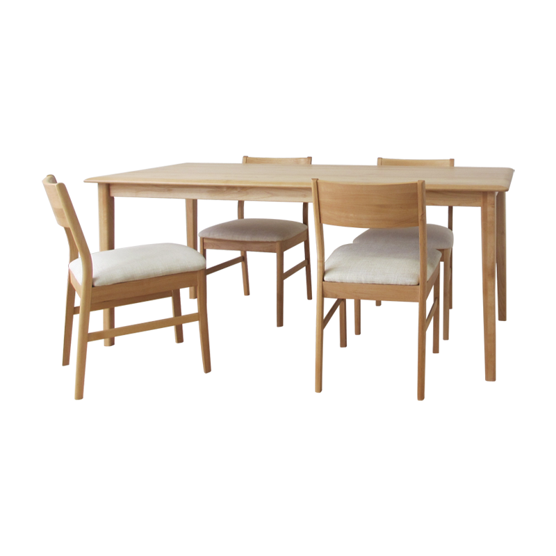 ISSEIKI ERIS 165 DINING 5SET (BE) (TABLEx1, CHAIRx4)