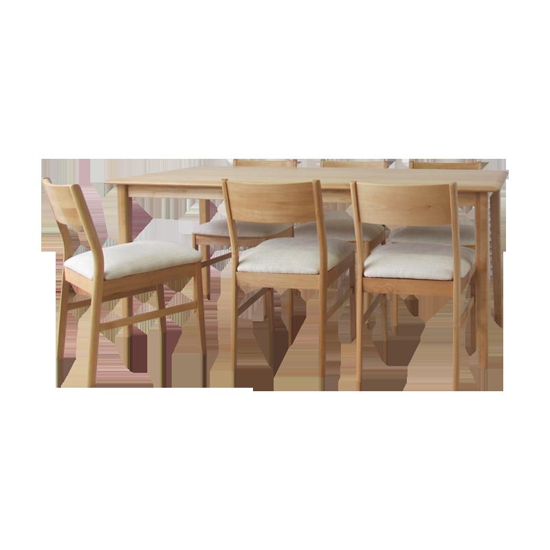 ISSEIKI ERIS 165 DINING 7SET (BE) (TABLEx1, CHAIRx6)
