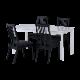 ISSEIKI 【SET】BALET DINING 5SET (DT+DCx4)(WH-WH/BK-BK)