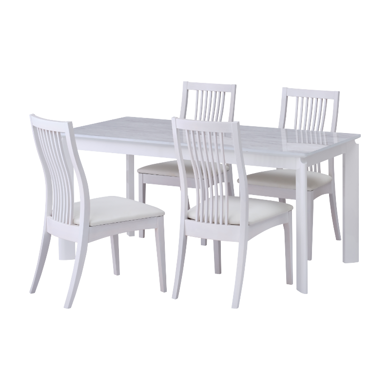 ISSEIKI 【SET】BALET DINING 5SET (DT+DCx4)(WH-WH/WH-WH)