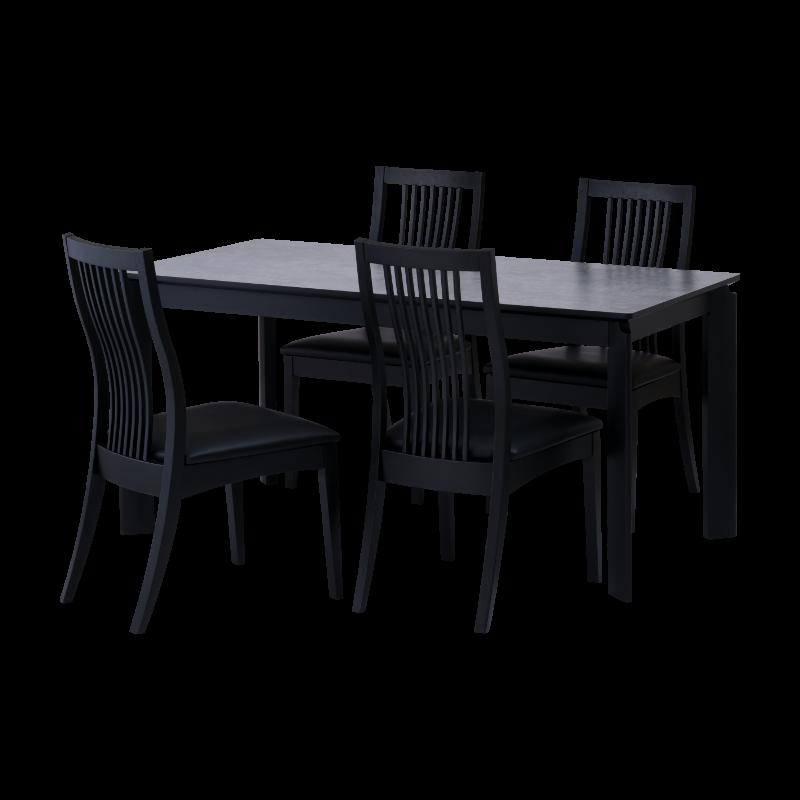 ISSEIKI 【SET】BALET DINING 5SET (DT+DCx4)(BK-GY/BK-BK)