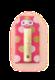 福福リップ 【ドット濃ピンク】