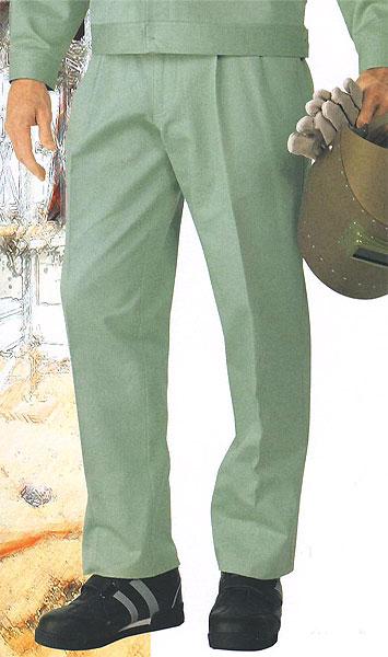 自重堂 80601 ツータックパンツ 秋冬用   ヒヨク式前ボタンの綿100%作業服 作業着