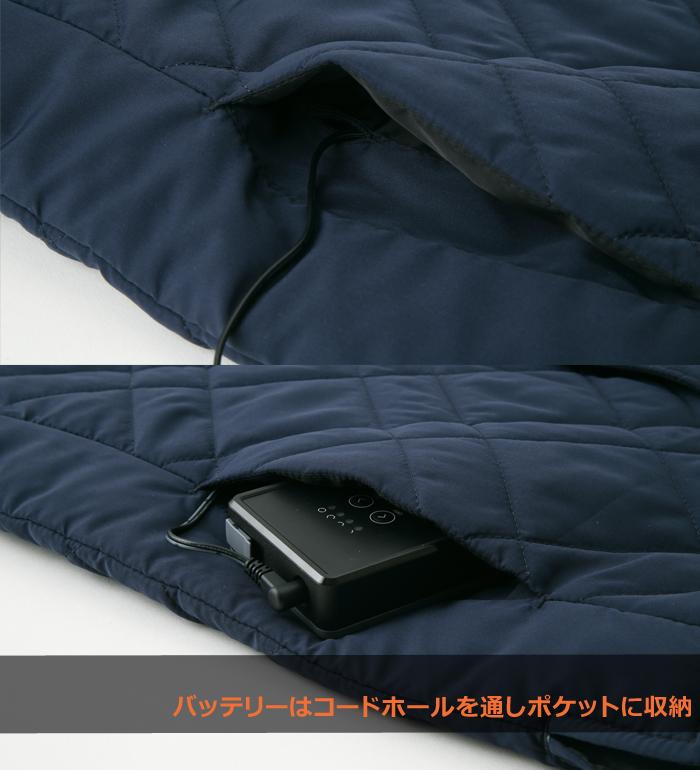 雷神服BO31950 ベストメンズ 防寒 インナー 作業服 作業着  単品  返品不可