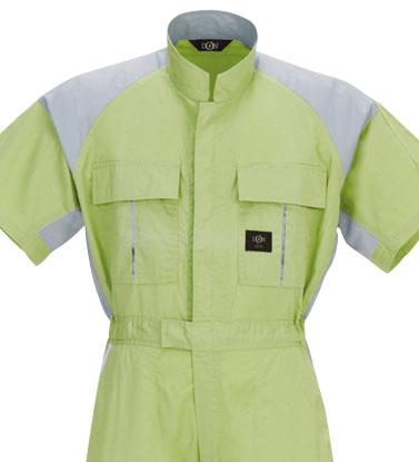 411 半袖つなぎ服 ポリエステル 綿 混紡   作業服 作業着