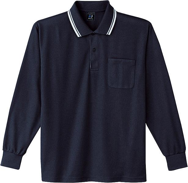 85264 吸汗速乾長袖ポロシャツ  自重堂