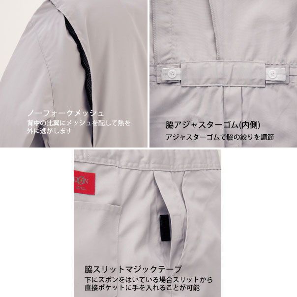 572 つなぎ服 ポリエステル 綿 混紡   作業服 作業着