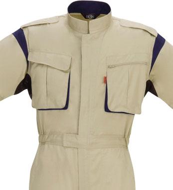 9900 半袖つなぎ服 ポリエステル 綿 混紡   作業服 作業着