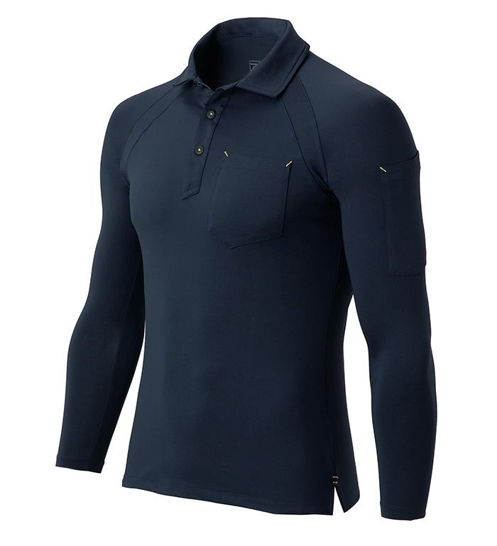 25452 コンプレッション長袖ポロシャツ 春夏用   作業服 作業着