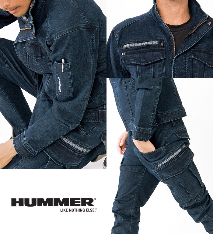 305-4 ストレッチ長袖ブルゾン 秋冬用  HUMMER ハマー 作業服 作業着 ジャンパー ジャケット